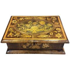 17th Century Floral Marquetry Box