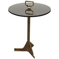 21st Century Cigarette Table in Cast Bronze and Glass from Costantini, Bellance