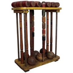 Antique Croquet Set