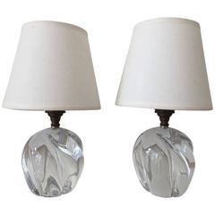 Pair of Daum Bedside Lamps