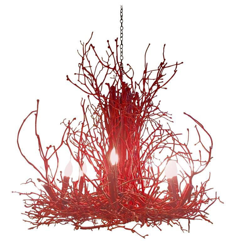 """Coral"" Branch Twig Chandelier 1"