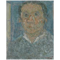 Rare Self-Portrait by André Cottavoz, 1970