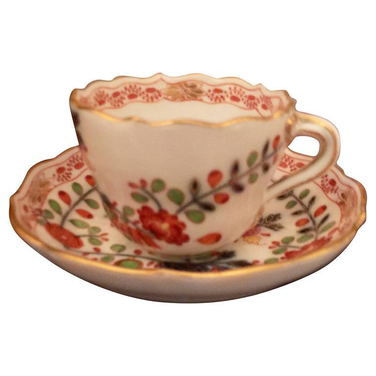 22340ca2fdf Vintage Meissen Demitasse Cup and Saucer For Sale at 1stdibs