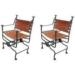 Pair of Mid-20th Century Savonarola Chairs