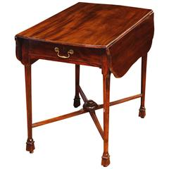 Chippendale Mahogany Pembroke Table with Original Stretcher Scottish, circa 1760