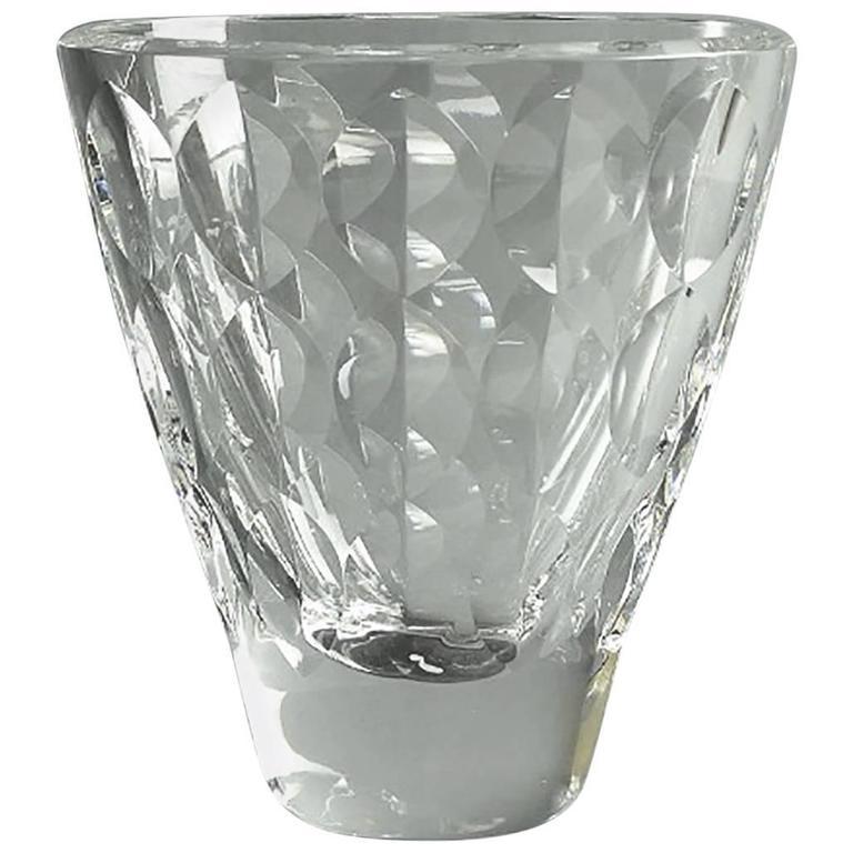 Orrefors Ingeborg Lundin Glass Apple Vase 1957 For Sale At 1stdibs