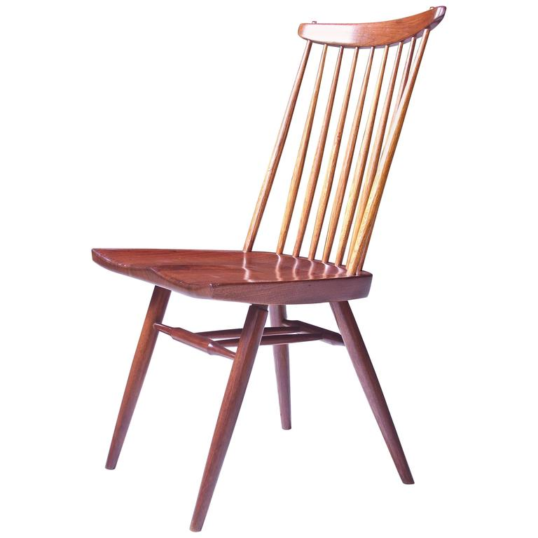 Signed 'New Chair' by George Nakashima in Walnut & Hickory, 1950s