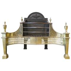 Late 19th Century Brass and Cast Iron Fire Grate