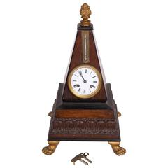 Tablewatch with Thermometer, Mahogany, Keys Available, circa 1830