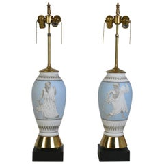 Pair of Mid-Century Neoclassical Lamps