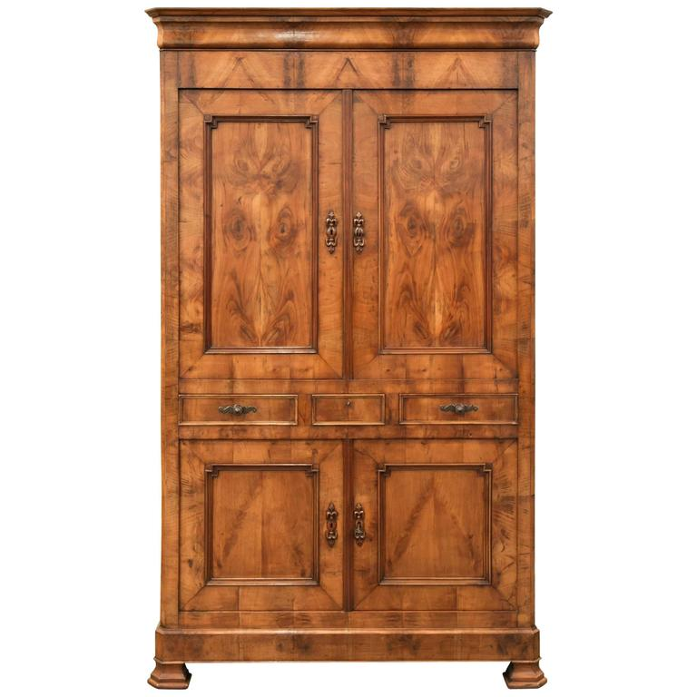 antique french louis philippe style four door armoire for. Black Bedroom Furniture Sets. Home Design Ideas