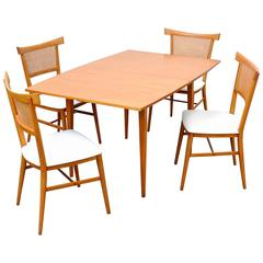 Paul McCobb Perimeter Group Maple Dining Set