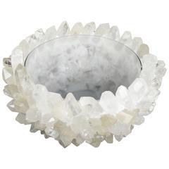 Large Citrine Quartz Encrusted Bowl For Sale at 1stdibs Quartz Crystal Bowls