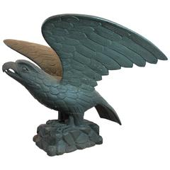 Mid-19th Century Carved Wood Pilot House Eagle