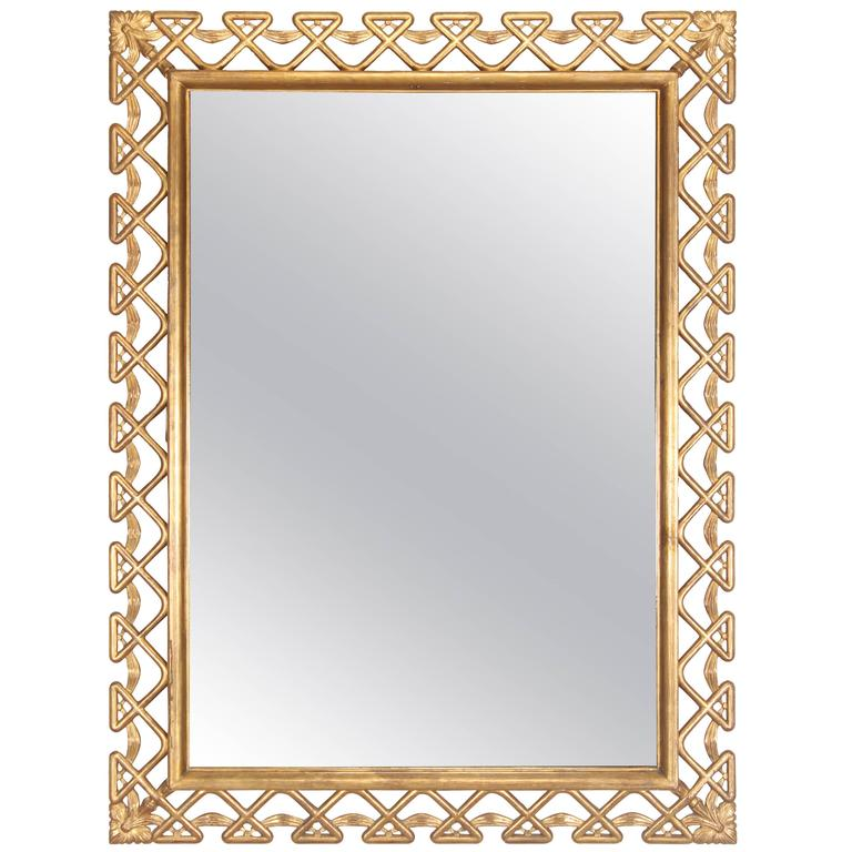 Hollywood Regency Italian Gilt Frame Mirror, 1950s at 1stdibs