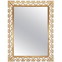 Hollywood Regency Italian Gilt Frame Mirror, 1950s