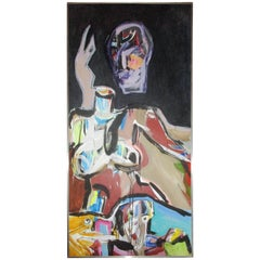 """77"""" Abstract Oil Painting by Wolf Von Frise"""