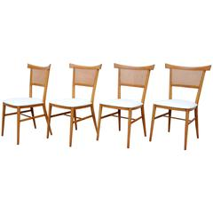 Set of Four Paul McCobb Perimeter Group Maple Dining Chairs