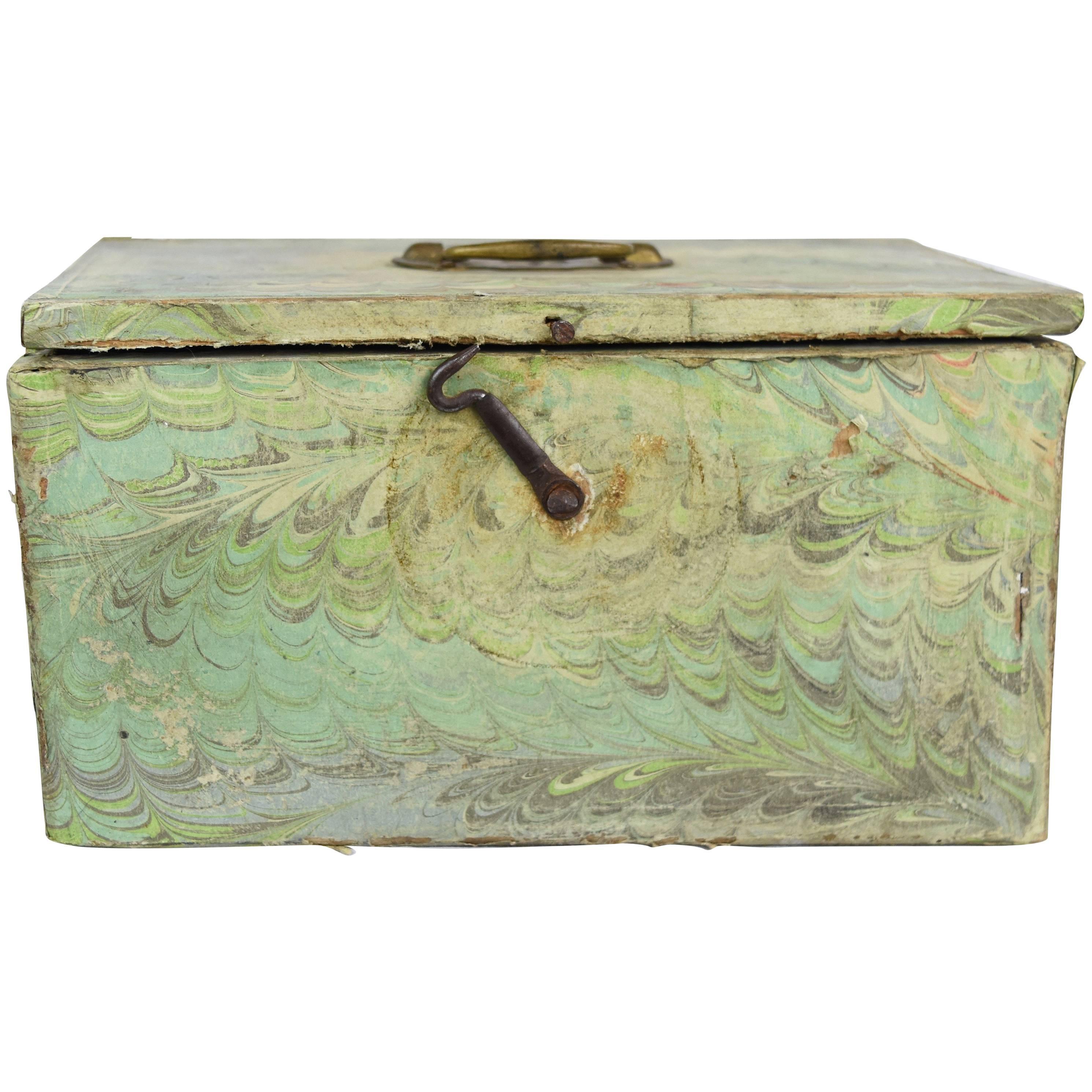 1900s Italian Decoupage on Wooden Storage Box