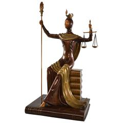 Limited Edition Bronze by Erte, Lady Justice, 1984, 25 / 60