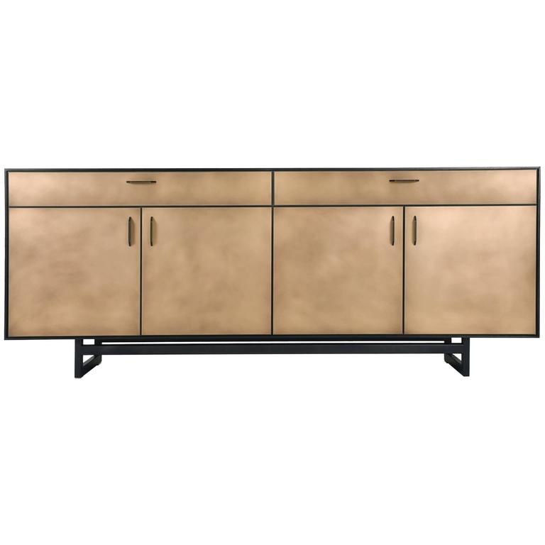 Gotham Credenza, Customizable Wood, Metal and Resin