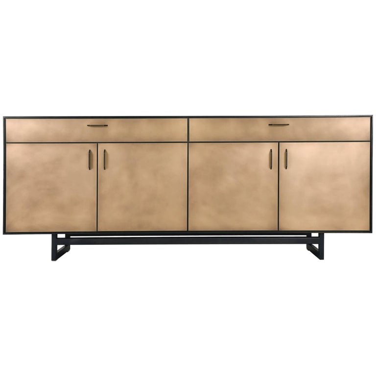 Gotham Credenza, Customizable Wood, Metal and Resin For Sale