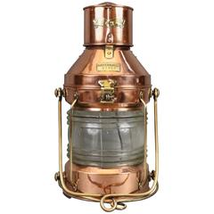 Copper Ship's Anchor Lantern