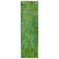 Solo Rugs, over Dyed, Runner, Green