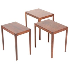 Stacking Tables in Rosewood