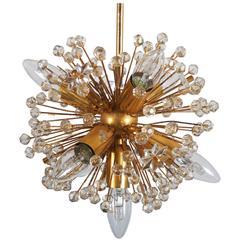 Gold-Plated Sputnik Chandeliers Attributed to Emil Stejnar