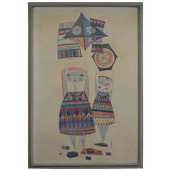 Evelyn and Jerome Ackerman Kites, 1958