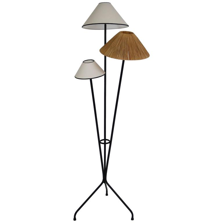 French Floor Lamp in the Manner of Maison Arlus
