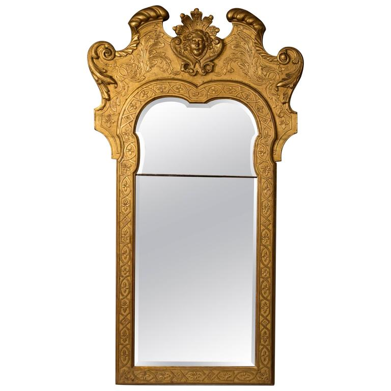George II Giltwood and Gesso Mirror