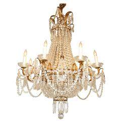 Empire Form Eight-Light Chandelier