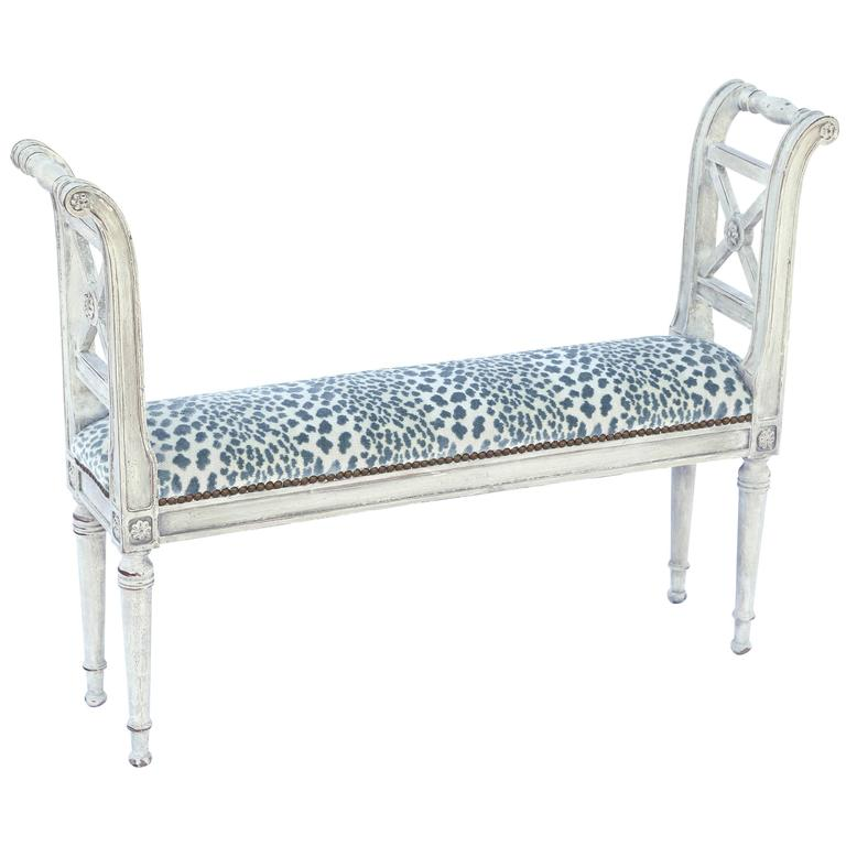 Narrow Neoclassical Style Window Seat Bench At 1stdibs