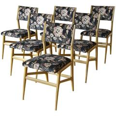 Set of Six Gio Ponti Dining Chairs
