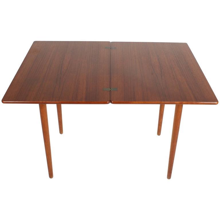 Hans J. Wegner Flip Top Table or Desk, Andreas Tuck, Denmark 1