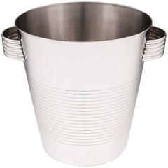 Vintage Stainless Steel French Champagne Bucket