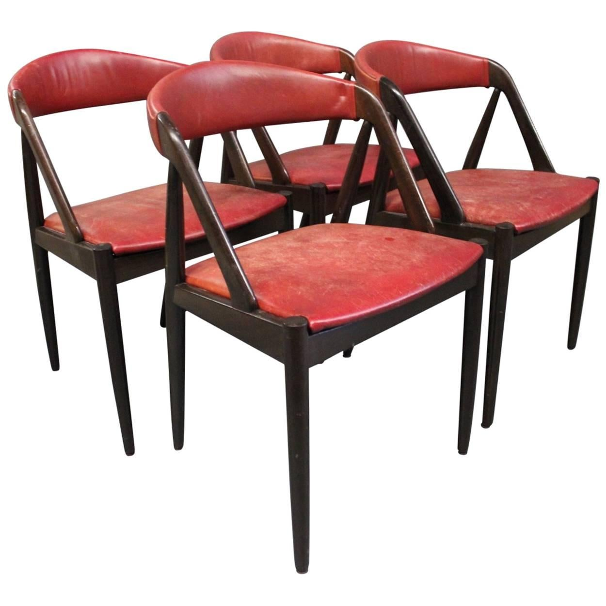 Set of Four Dining Room Chairs, Model 31 by Kai Kristiansen, 1960s