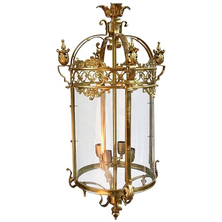 Vintage Victorian Style Circular Brass Lantern At 1stdibs