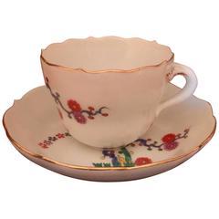 19th Century German Vintage Meissen Demitasse Cup and Saucer