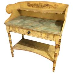 Charming 19th Century Hand-Painted Wash Stand