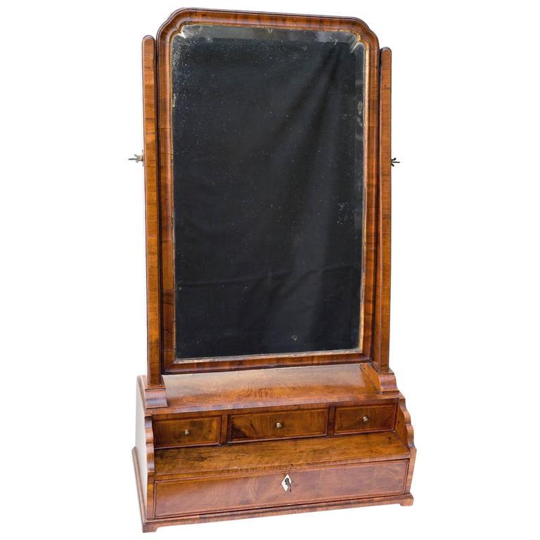 18th century georgian walnut dressing table mirror for for Dressing table 85cm