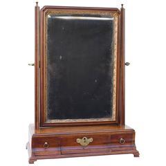 18th Century Georgian Mahogany Dressing Table Mirror Bevelled Glass
