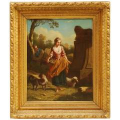 Early 19th Century French Oil on Canvas