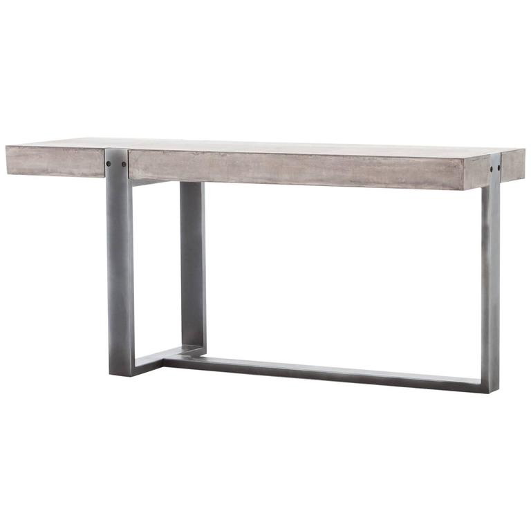 Industrial Style Console For Sale