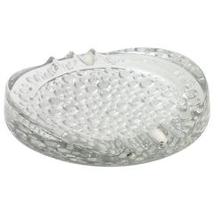 Million Bubbles Murano Glass Ashtray with Sterling Silver Details