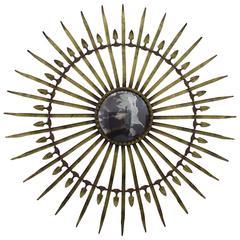 Italian Gilt Metal Starburst Mirror