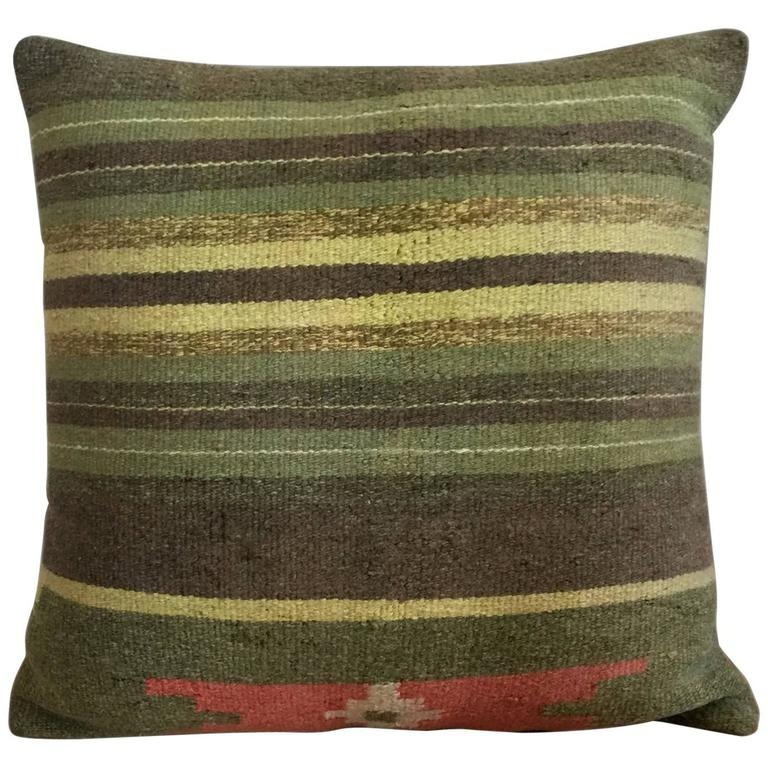 Vintage Decorative Pillow Covers : Decorative Antique Vintage Handmade Turkish Kilim Pillow Cover For Sale at 1stdibs