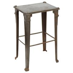 Industrial Cast Iron 1920s Occasional Table